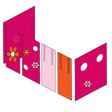 Vorhang in Flower Power für 200cm x 90cm mittelhohes Bett