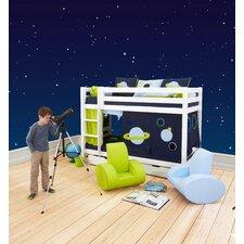 Vorhang in Space für 200cm x 90cm mittelhohes Bett