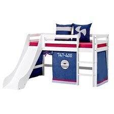 Vorhang in Aeroplane für 160cm x 70cm halbhohes Bett