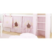 Vorhang in Fairytale Flower für 140cm/190cm x 70cm halbhohe Betten