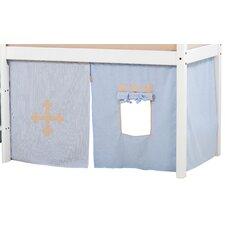 Vorhang in Fairytale Knight für 160cm x 70cm halbhohes Bett