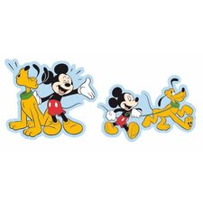 2 Piece Mickey Mini Foam Elements Wall Sticker Set
