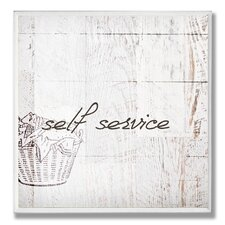 Self Service Laundry Room Wall Plaque