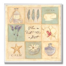 When in Doubt Take a Bath 9 Patch Bathroom Wall Plaque
