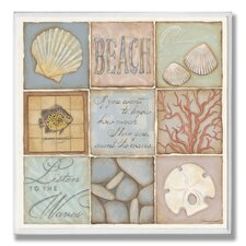 Count the Waves Beach 9 Patch Textual art Plaque