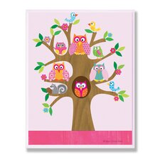 The Kids Room Owls and Birds On Branches Wall Plaque