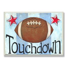 The Kids Room Touchdown Stripe Star Wall Plaque