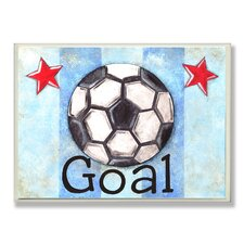 The Kids Room Goal Stripe Star Wall Plaque
