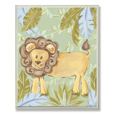 The Kids Room Lion Jungle Rectangle Wall Plaque