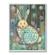The Kids Room Distressed Woodland Rabbit Wall Plaque