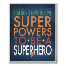 The Kids Room Superhero Wall Plaque