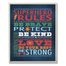The Kids Room 'Superhero Rules' Wrapped Canvas Wall Art