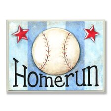 The Kids Room Home Run Stripe Star Wall Plaque