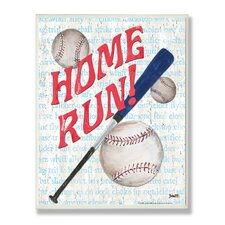 The Kids Room Home Run Border Wall Plaque