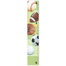 The Kids Room Sports Ball Growth Chart