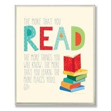 The Kids Room Read Typography by Ellen Crimi-Trent Graphic Art Plaque
