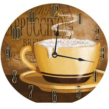 """12"""" Frothy Cappuccino Wall Clock"""