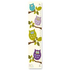 The Kids Room Cute Owls Whimsical Growth Chart