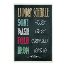 Laundry Schedule Chalkboard Wall Plaque