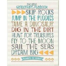 The Kids Room Little Gentleman's Playbook Wall Plaque
