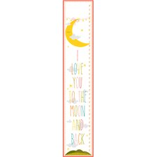 The Kids Room I Love You To The Moon and Back Growth Chart