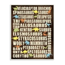 The Kids Room Dinosaurs Typography Chart Wall Plaque