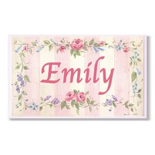 Kids Room Personalization Stripe Wall Plaque