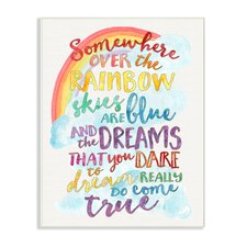 The Kids Room Somewhere Over the Rainbow with Rainbow Typog Wall Plaque