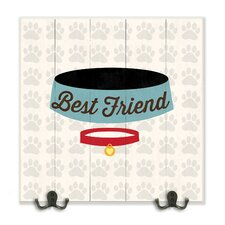 Best Friends Dog Collar and Bowl Graphic Plaque