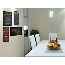 Kitchen Rules Chalkboard Look Textual art Plaque