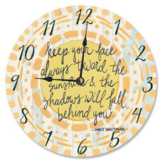 "12"" Keep Your Face Toward the Sunshine Watercolors Vanity Clock"