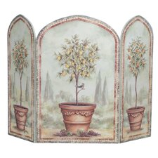 Orange and Lemon Trees 3 Panel Fireplace Screen