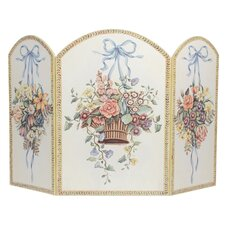 Hanging Basket 3 Panel Fireplace Screen