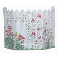 Picket Fence 3 Panel Fireplace Screen
