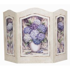 Shabby Elegance Hydrangea 3 Panel Fireplace Screen
