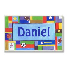 Kids Room Personalization Contemporary Sports Wall Plaque
