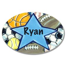 Kids Room Personalization All Star Wall Plaque