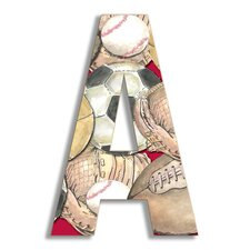 Oversized Layered Sport Letter Hanging Initial