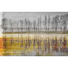 Sunset Lake by Parvez Taj Graphic Art on Wrapped Canvas
