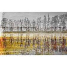 Sunset Lake by Parvez Taj Graphic Art on Wrapped Canvas