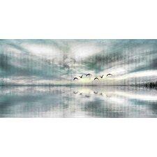 Birds Skylight by Parvez Taj Graphic Art on Wrapped Canvas