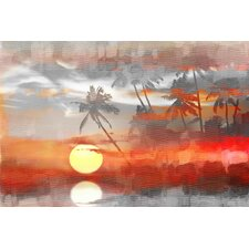 Reflective Sun Graphic Art on Wrapped Canvas