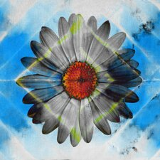 Lighted Daisy Graphic Art on Wrapped Canvas