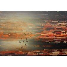 Night Flight-Art Print on Premium Wrapped Canvas