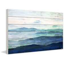 Mountain Tops Painting Print Plaque
