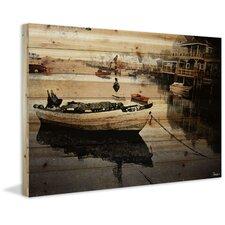 Still Dock Painting Print Plaque