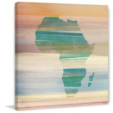 Painted Africa Painting Print on Wrapped Canvas