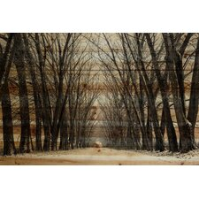 Tree Path Painting Print Plaque