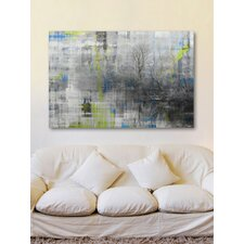 Misty Lake Graphic Art on Premium Wrapped Canvas