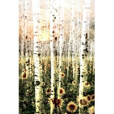 Daisy Forest Graphic Art on Wrapped Canvas